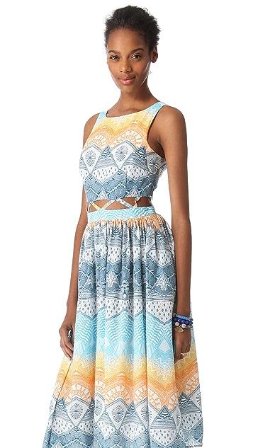 Mara Hoffman Lattice Waist Dress