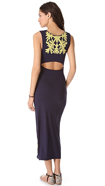Mara Hoffman Applique Column Dress