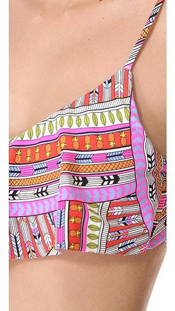 Mara Hoffman Rainbow Cropped Bikini Top
