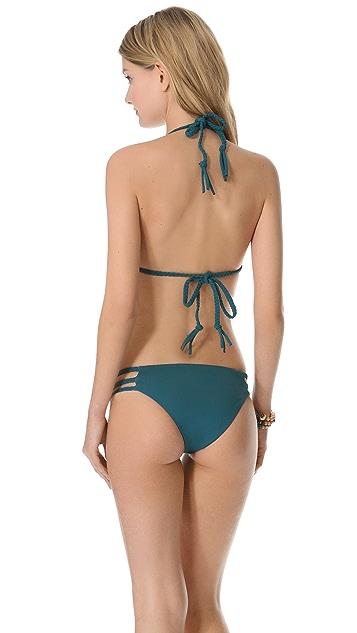 Mara Hoffman Quilts Braided Triangle Bikini Top