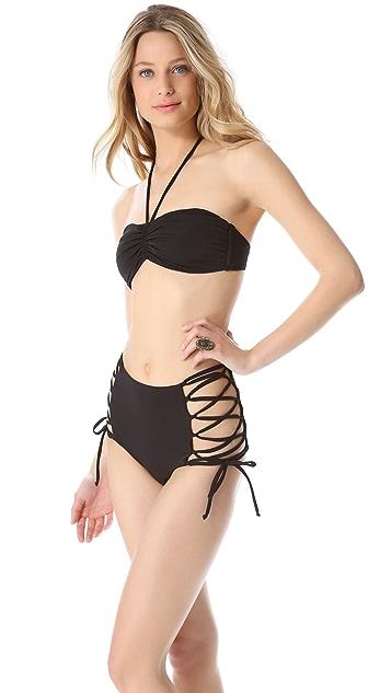 Mara Hoffman Solid Halter Bikini Top