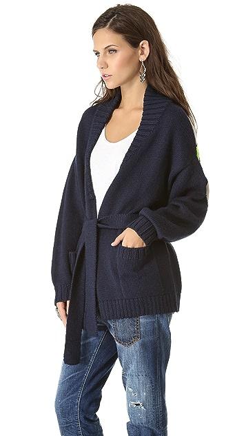 Mara Hoffman Intarsia Cardigan Sweater