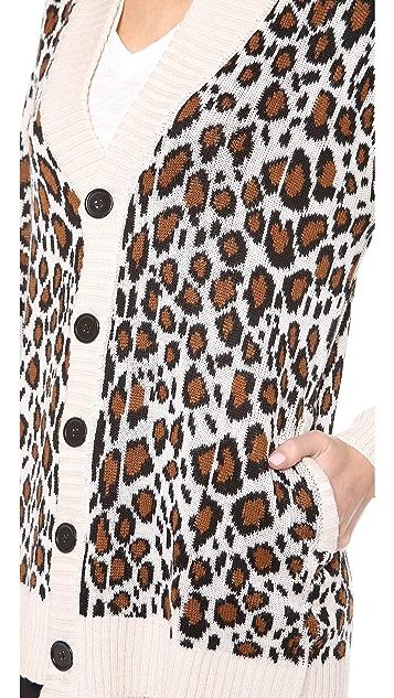 Mara Hoffman Leopard Cardigan