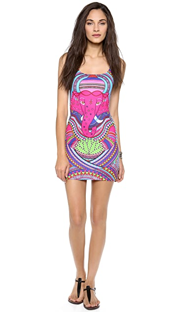 Mara Hoffman Racer Back Mini Dress