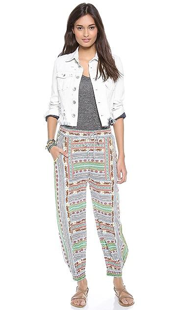 Mara Hoffman Tiger Stripe Slouchy Pants