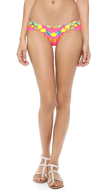 Mara Hoffman Garlands Ruched Side Bikini Bottoms