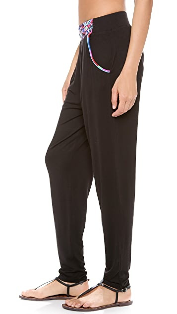 Mara Hoffman Mirror Embroidery Slouchy Pants