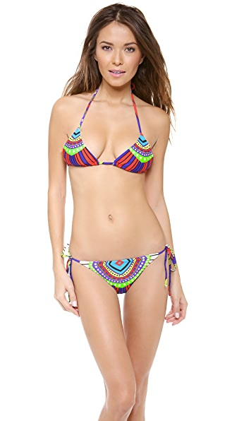 Mara Hoffman Rays Tie Side Bikini Top