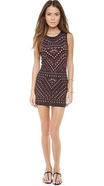Mara Hoffman Laser Cut Mini Dress