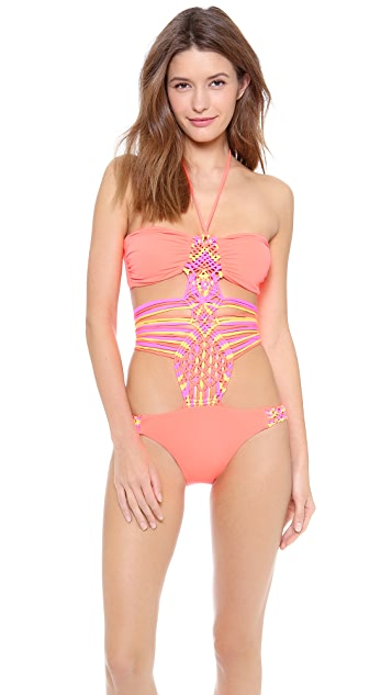 Mara Hoffman Macrame One Piece Swimsuit