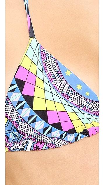 Mara Hoffman Naga Tie Side Bikini Top