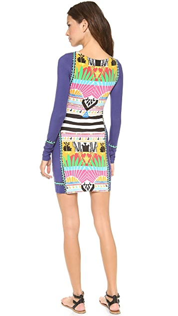 Mara Hoffman Long Sleeve Fitted Mini Dress