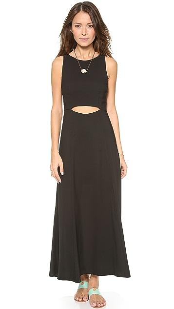 Mara Hoffman Waist Cutout Tea Length Dress