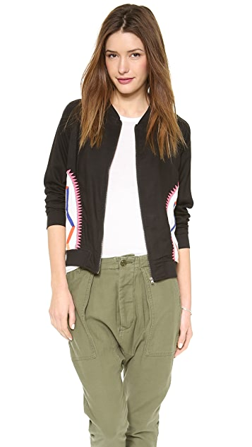 Mara Hoffman Embroidered Bomber Jacket