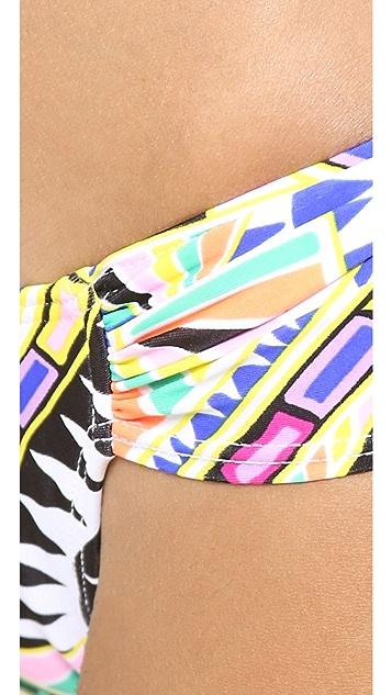 Mara Hoffman Cosmic Fountain Ruched Bikini Bottoms