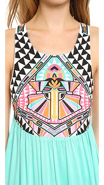 Mara Hoffman Cosmic Fountain Embroidered Maxi Dress