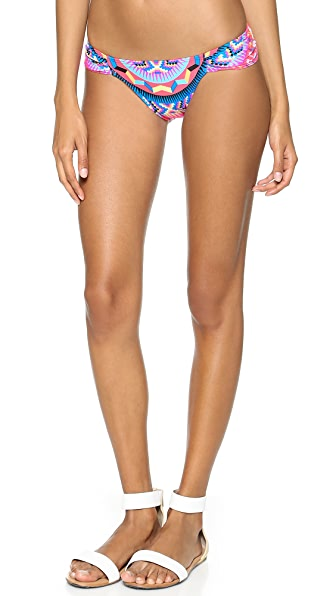Mara Hoffman Jungle Trip Ruched Side Bikini Bottoms