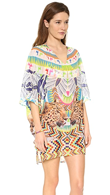 Mara Hoffman Jungle Trip Chiffon Dashiki