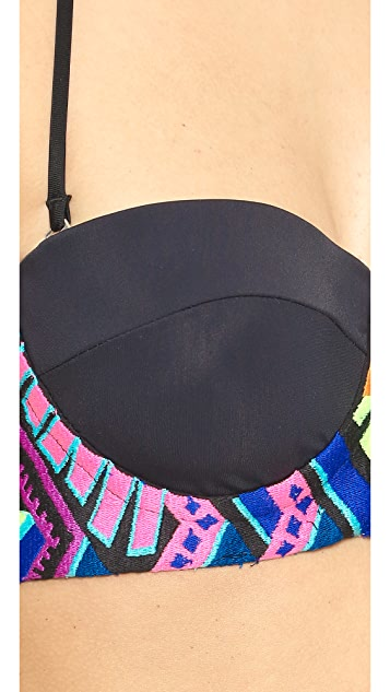 Mara Hoffman Embroidered Bikini Top