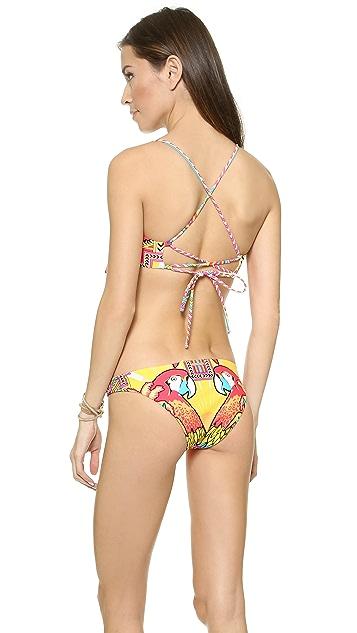 Mara Hoffman Draped Panel Bikini Top