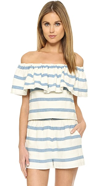 Mara Hoffman Ruffle Off Shoulder Top