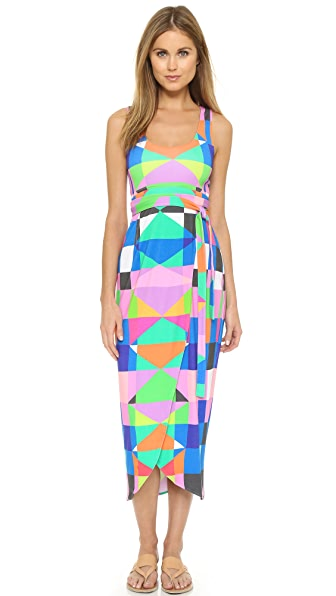 Mara Hoffman Back Cutout Wrap Dress - Pink