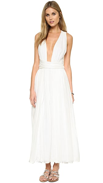 Mara Hoffman Wrap Top Dress - White