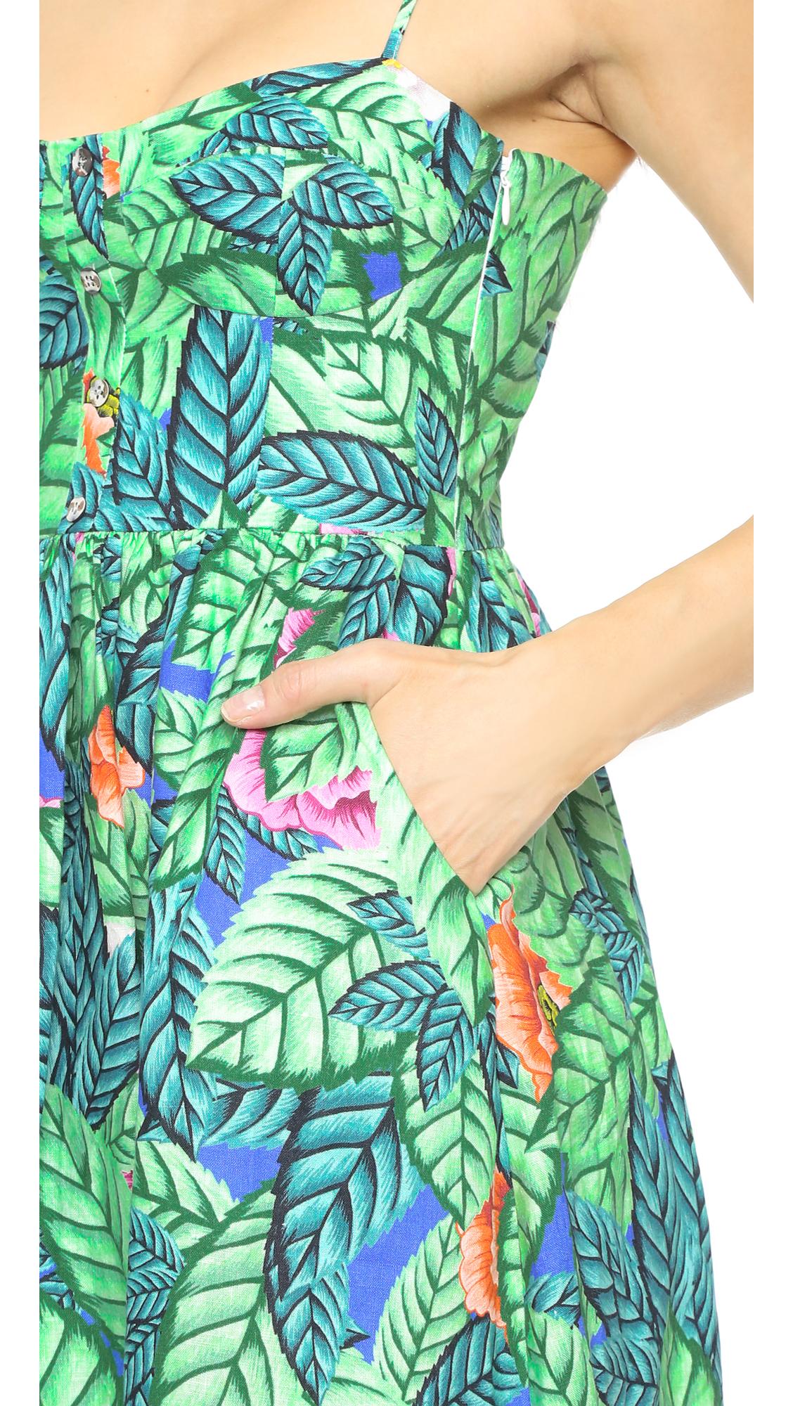 628639c3fdd Mara Hoffman Leaf Bustier Dress
