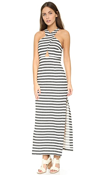 Mara Hoffman Striped Dress - Black Cream