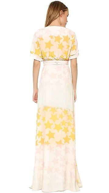 Mara Hoffman Star Blast Tie Front Dress