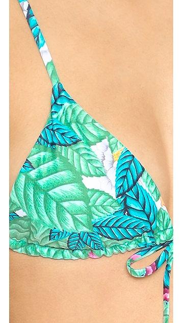 Mara Hoffman Leaf Crisscross Back Bikini Top