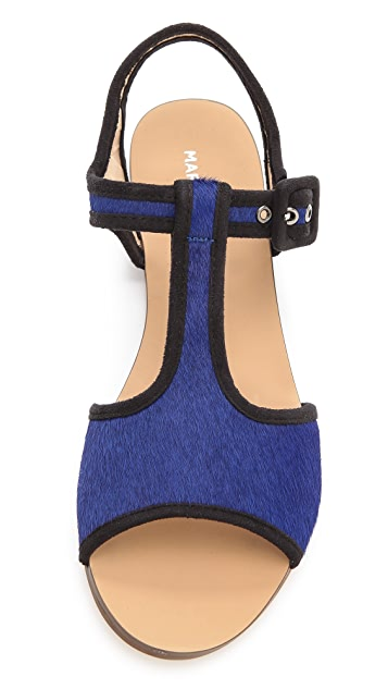 Marais USA T-Strap Haircalf Sandals