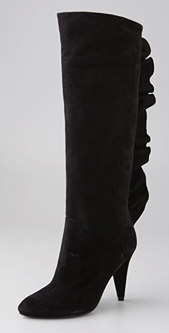 Marc by Marc Jacobs Ruffle Back Knee High Boots