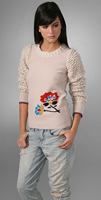 Marc by Marc Jacobs Bella Donna Bloom Sweater