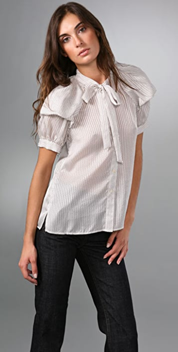 Marc by Marc Jacobs Dottie Stripe Blouse