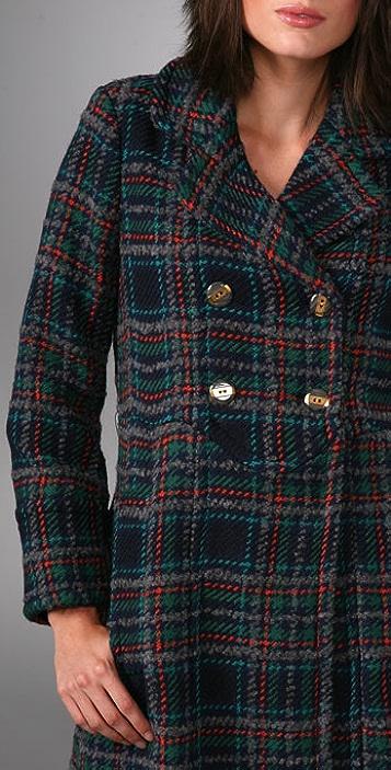 Marc by Marc Jacobs Parker Plaid Coat