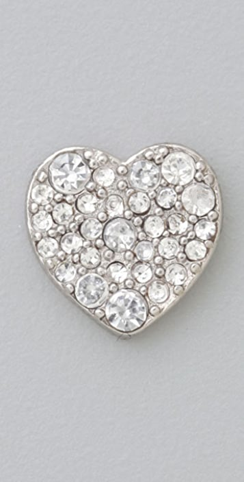 Marc by Marc Jacobs Starlight Friends Pave Heart Stud Earrings