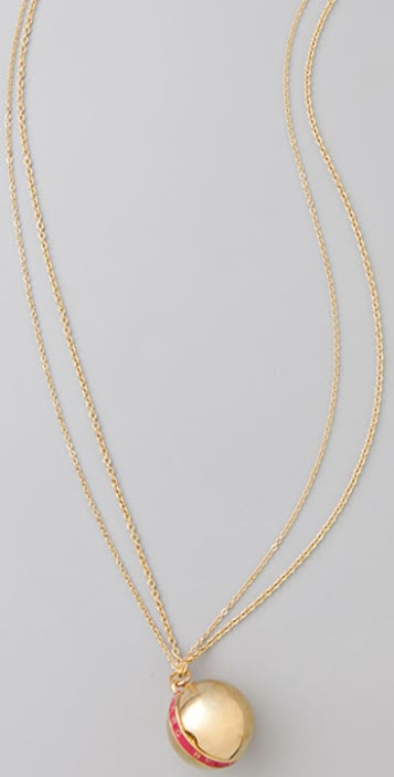 Marc by Marc Jacobs Logo Locket Pendant Necklace