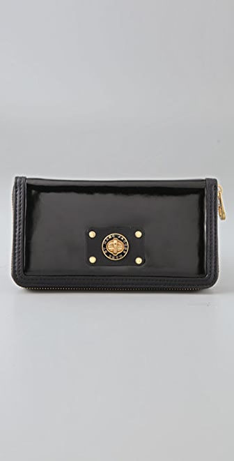 Marc by Marc Jacobs Shiny T Large Zip Around Wallet
