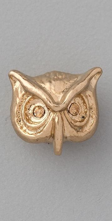 Marc by Marc Jacobs Fantastical Tale Strass Owl Stud Earrings