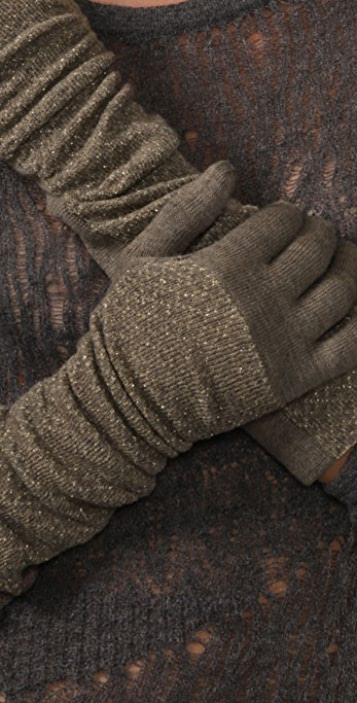 Marc by Marc Jacobs Diamond Lurex Gloves