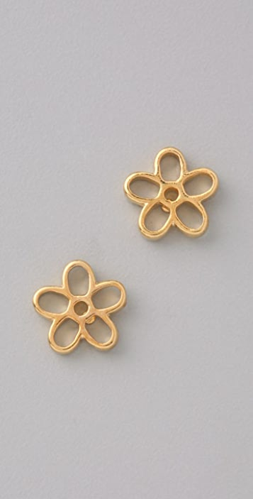 Marc by Marc Jacobs Shiny Cutout Daisy Stud Earrings