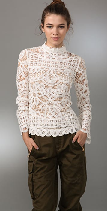 Marc by Marc Jacobs Bronte Lace Top