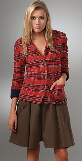 Marc by Marc Jacobs Alma Plaid Sweater Jacket