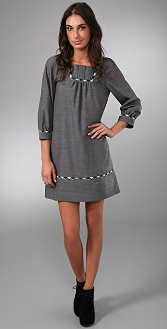 Marc by Marc Jacobs Two Tone Twill Dress