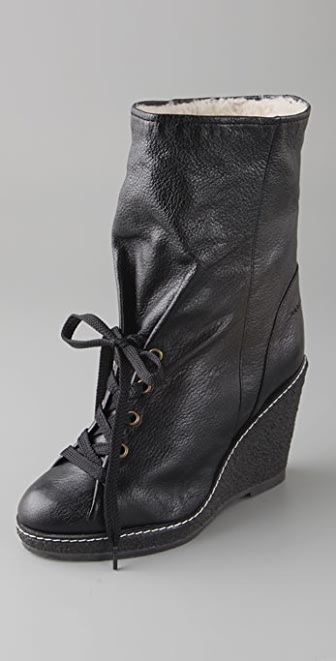 Marc by Marc Jacobs Crepe Wedge Boots