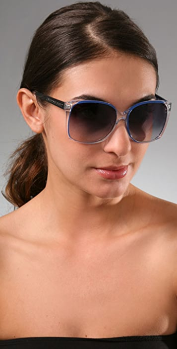Marc by Marc Jacobs Crystal Rim Sunglasses