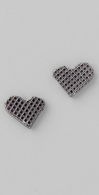 Marc by Marc Jacobs Crosshatch Lovebirds Stud Earrings