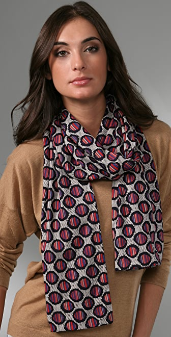 Marc by Marc Jacobs Dash Dot Jersey Scarf