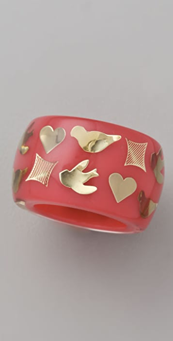 Marc by Marc Jacobs Save the Birds Confetti Inlay Ring